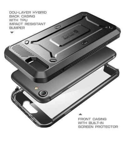 duo-layer hybrid back holster case with impact resistant bumper for iPhone 7/7 Plus