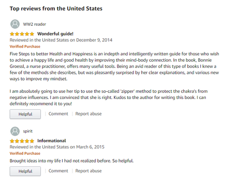 Amazon reviews for 5 steps to better health and happiness: your guide to natural wellness