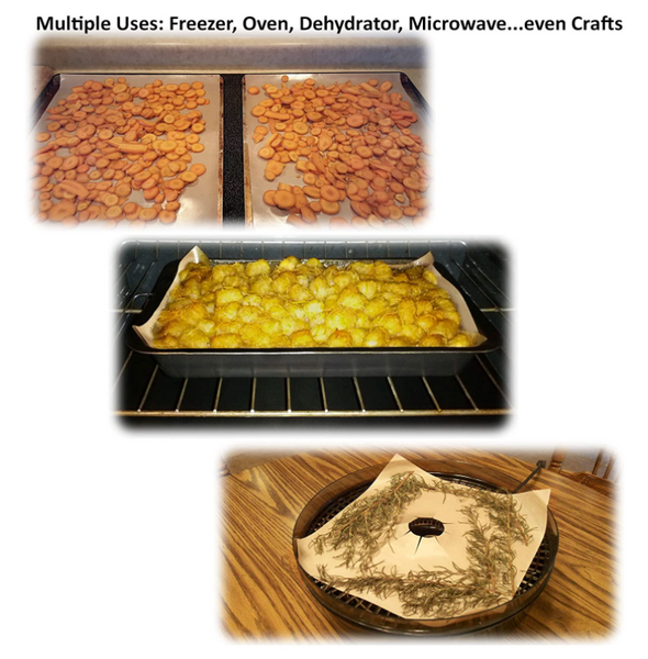 Multiple uses for premium tan baking mats baking, dehydrator and crafts
