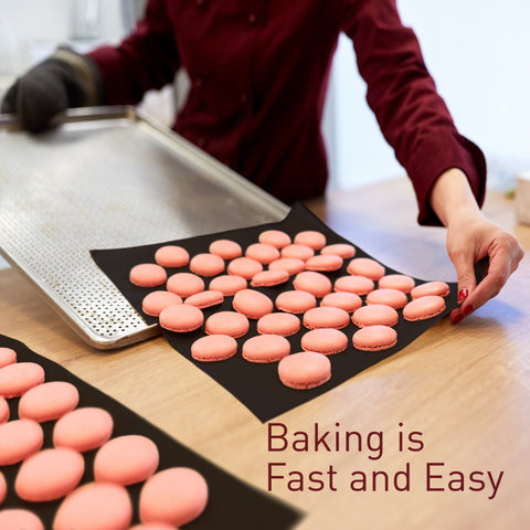 Fun and easy baking with non-stick black baking mats