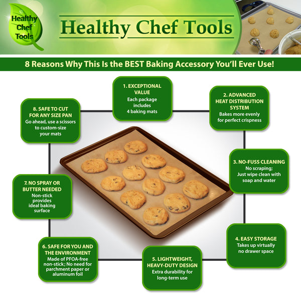 benefits of premium nonstick baking mats