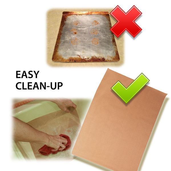 easy cleanup for premium nonstick tan baking mats