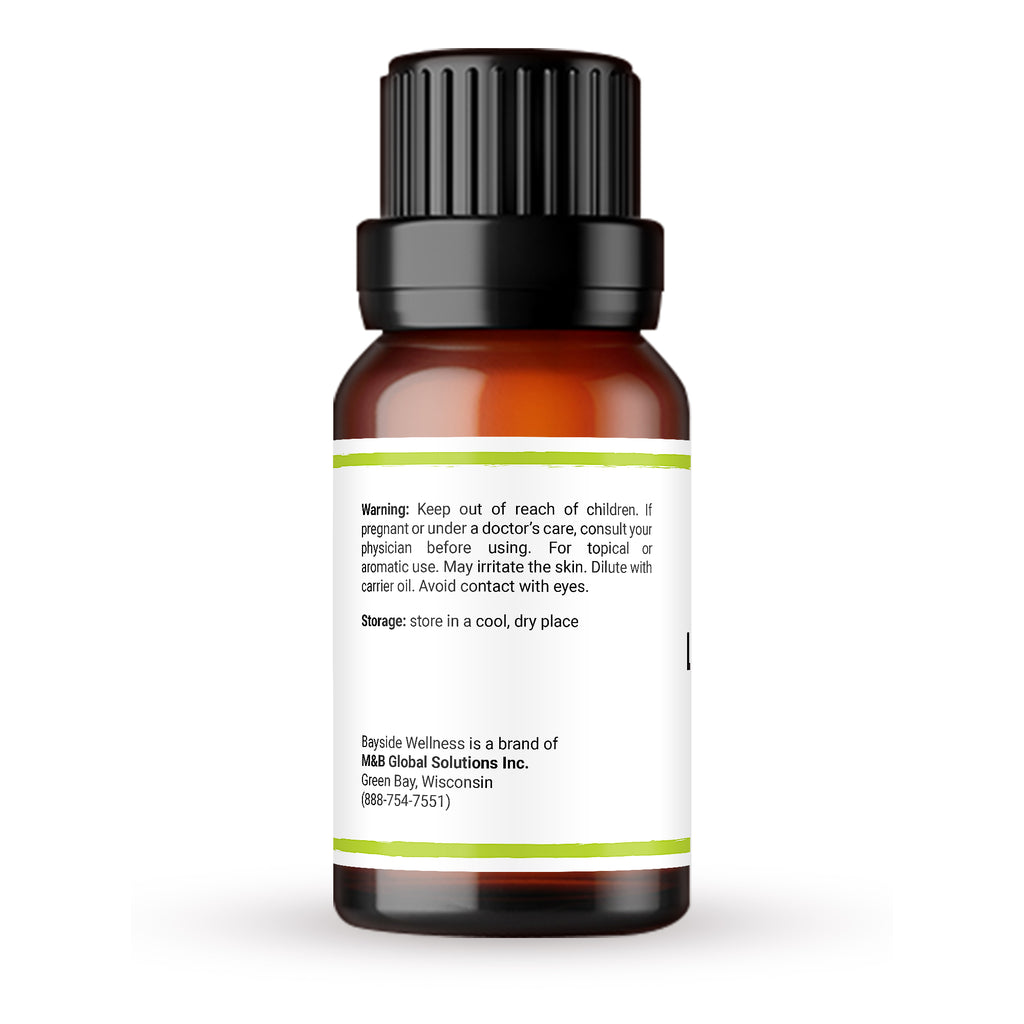 Premium 100% pure lemongrass essential oil side