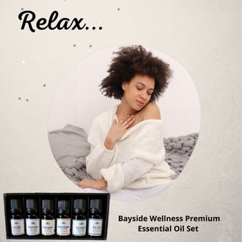 (Set of 6) Bayside Wellness Premium 100% Pure Essential Aromatherapy Oils 6-Pack, 10ml each – Lavender Oil, Peppermint Oil, Lemongrass Oil, Sweet Orange Oil, Eucalyptus Oil, Tea Tree Oil