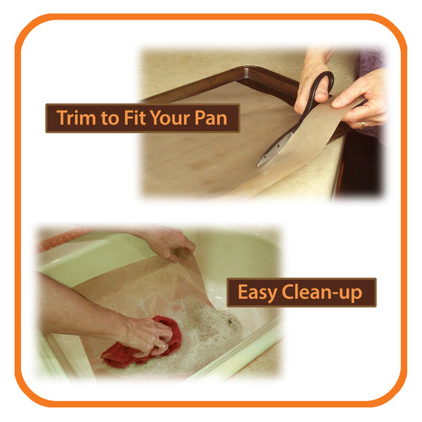 premium nonstick baking mats trim to fit and easy cleanup
