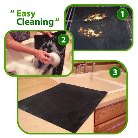 easy soap and water cleanup with premium nonstick grill mats