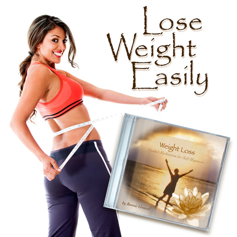 woman happy to lose weight with help from this audio