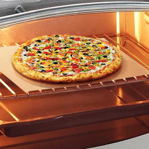 pizza on tan premium nonstick baking mat