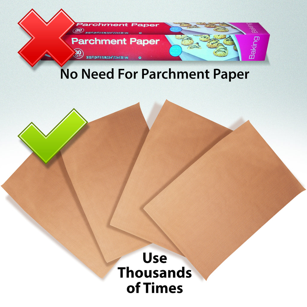 no need for parchment paper durable premium tan nonstick baking mats