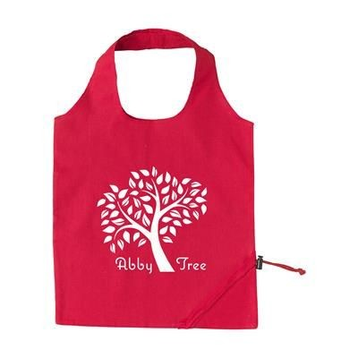 STRAWBERRY COTTON FOLDING BAG in Red