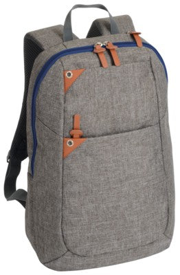 ABERDEEN BACKPACK RUCKSACK With Brown & Blue Trim