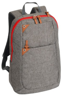 ABERDEEN BACKPACK RUCKSACK With Brown & Red Trim