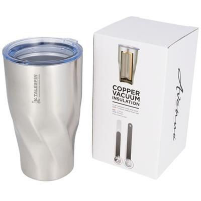 HUGO 470 ML COPPER VACUUM THERMAL INSULATED TUMBLER in Silver