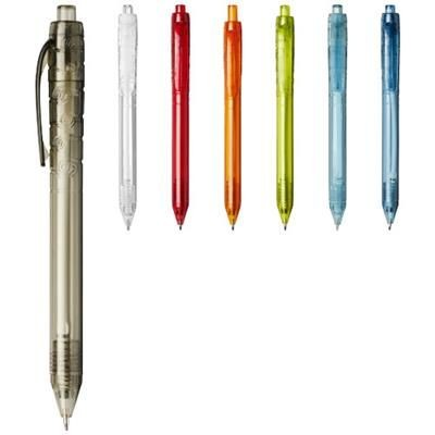 VANCOUVER RECYCLED PET BALL PEN in Clear Transparent Lime Green