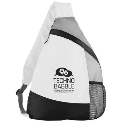 ARMADA SLING BACKPACK RUCKSACK in White Solid