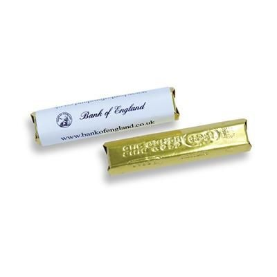 SMALL CHOCOLATE BAR: 14g Milk Chocolate Bar with Full Colour Personalised Wrapper