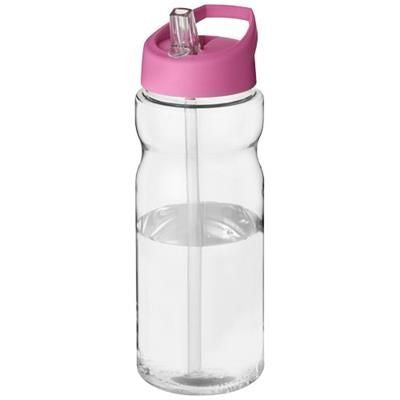 H2O BASE 650 ML SPOUT LID SPORTS BOTTLE in Transparent-pink