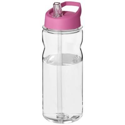 H2O BASE TRITAN 650 ML SPOUT LID SPORTS BOTTLE in Transparent-pink