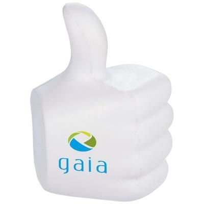 THUMBS-UP STRESS RELIEVER in White Solid