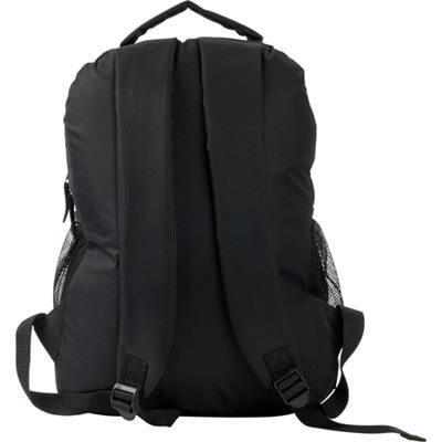 600D POLYESTER BACKPACK RUCKSACK in Black