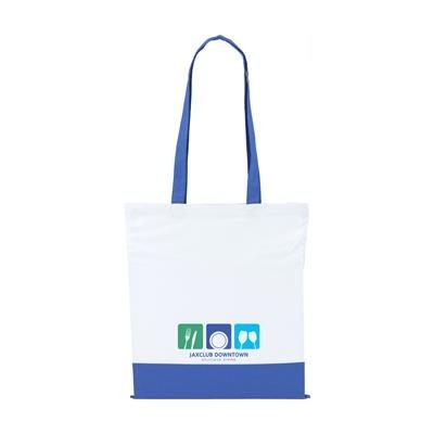 TWO COLOUR BAG COTTON BAG in Blue