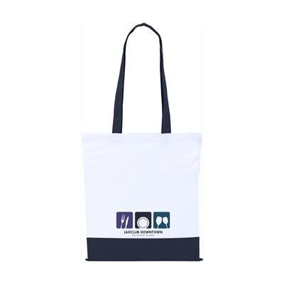 TWO COLOUR BAG COTTON BAG in Navy