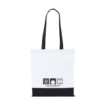 TWO COLOUR BAG COTTON BAG in Black