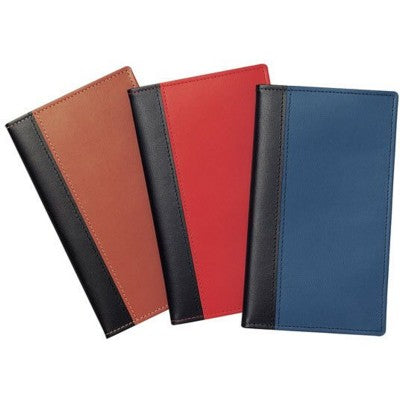 NEWHIDE BI-COLOUR POCKET WALLET with Comb Bound Diary Insert / Notebook