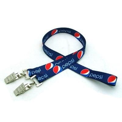 1 - 2 INCH DIGITAL SUBLIMATED LANYARD with Double Standard Attachment