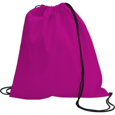 DRAWSTRING BACKPACK RUCKSACK in Pink