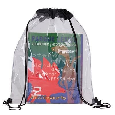 CLEAR TRANSPARENT DRAWSTRING BAG