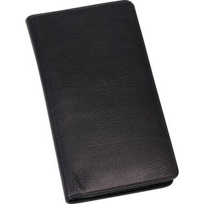 PRESIDENT LEATHER DIARY WALLET in Black