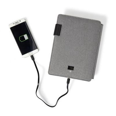 POLYESTER DOCUMENT FOLDER A5 with Integrated 4000mah Power Bank