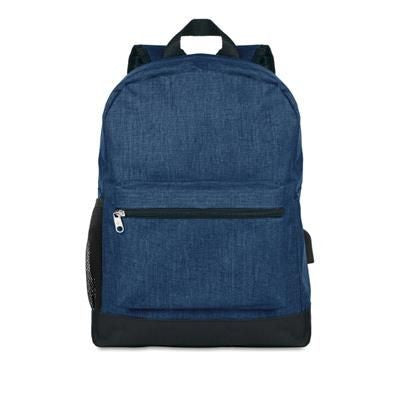 600D 2 TONE POLYESTER BACKPACK RUCKSACK PADDED
