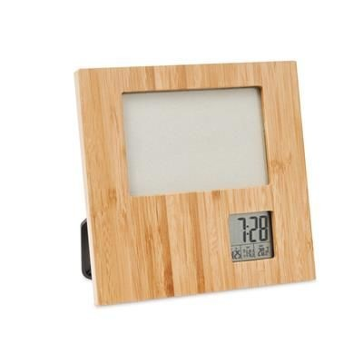 PHOTO FRAME in Bamboo with Weather Station
