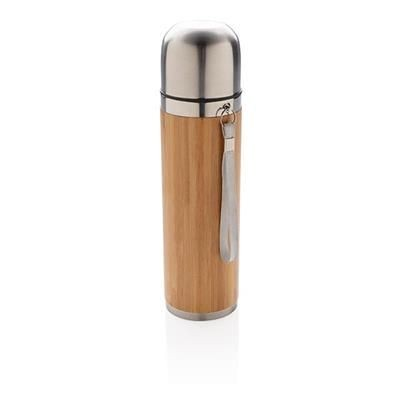 BAMBOO VACUUM TRAVEL FLASK in Brown