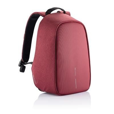 BOBBY HERO SMALL ANTI-THEFT BACKPACK RUCKSACK in Red
