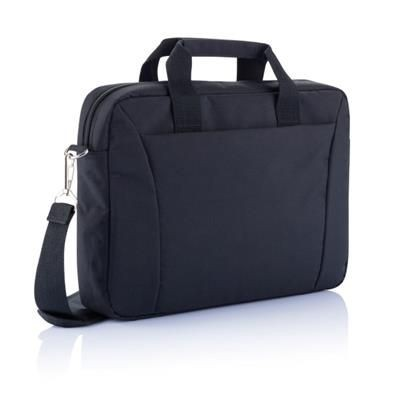 15,4 INCH EXHIBITION LAPTOP BAG PVC FREE in Black