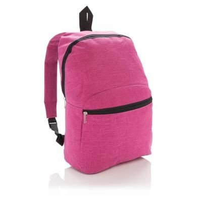 CLASSIC TWO TONE BACKPACK RUCKSACK in Fuchsia