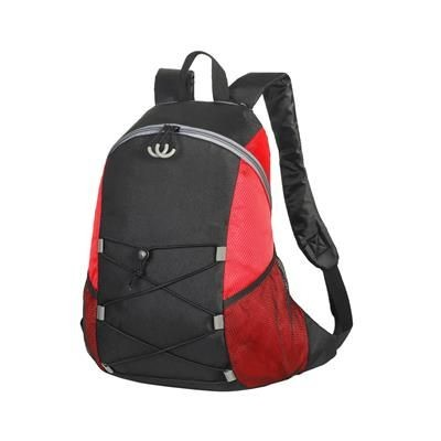CHESTER BACKPACK RUCKSACK in Black & Red