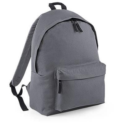 ADLINGTON 600D POLYESTER BACKPACK RUCKSACK in Grey
