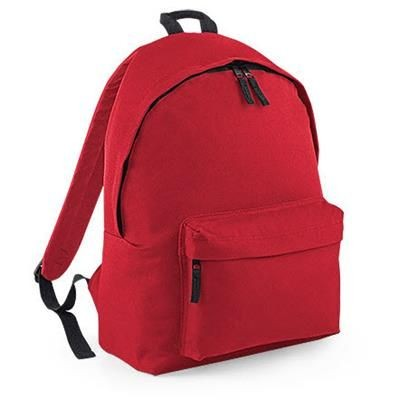 ADLINGTON 600D POLYESTER BACKPACK RUCKSACK in Red