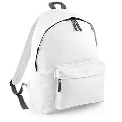 ADLINGTON 600D POLYESTER BACKPACK RUCKSACK in White