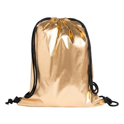 ALEXIN DRAWSTRING BAG with Metallic Surface 210t Polyester