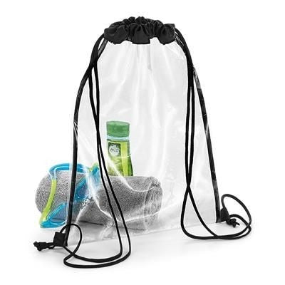CLEAR TRANSPARENT DRAWSTRING BAG - PVC FREE