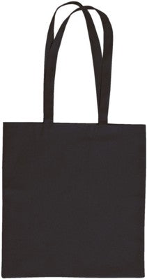 SANDGATE 7OZ COTTON CANVAS SHOPPER TOTE BAG in Black