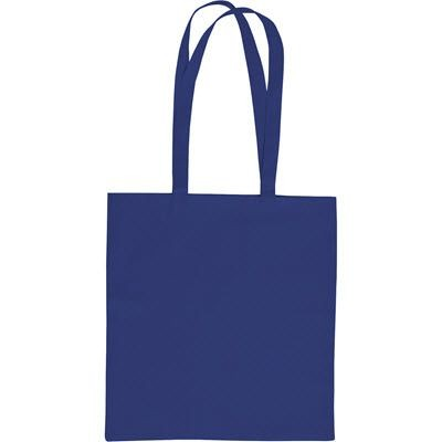 SANDGATE 7OZ COTTON CANVAS SHOPPER TOTE BAG in Blue