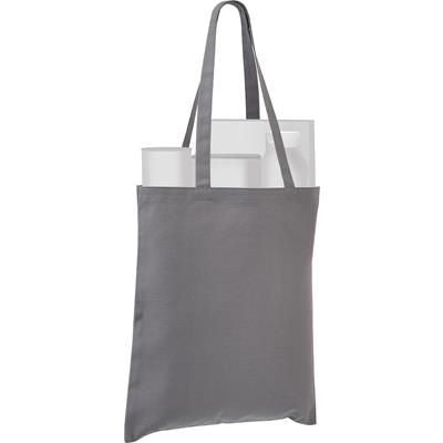 SANDGATE 7OZ COTTON CANVAS TOTE BAG in Grey