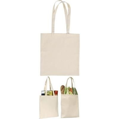 SANDGATE 7OZ COTTON CANVAS SHOPPER TOTE BAG in Natural