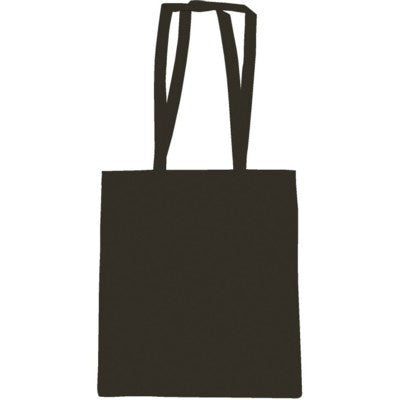SNOWDOWN COTTON SHOPPER TOTE BAG in Black